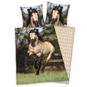 Paard flanel dekbedovertrek