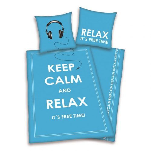 Keep Calm and Relax flanel dekbedovertrek