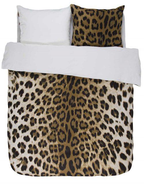 Essenza Leopard flanel dekbedovertrek