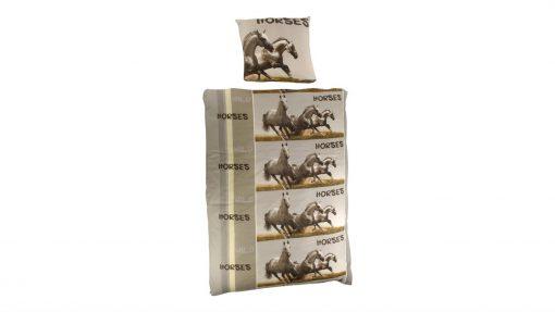 Horse Liberty flanel dekbedovertrek