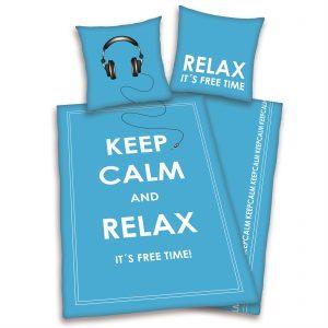 Keep Calm and Relax flanel dekbedovertrek