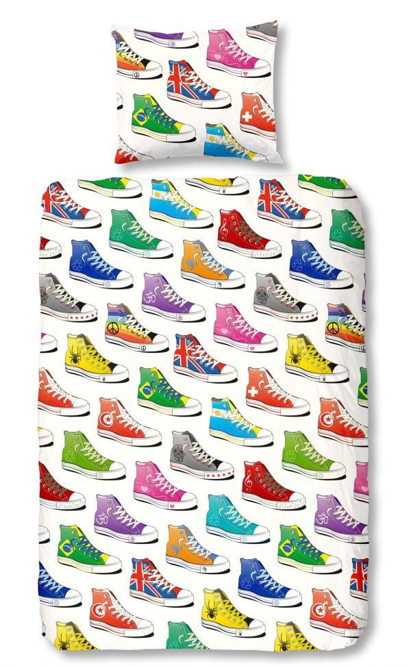 Sneakers flanel dekbedovertrek
