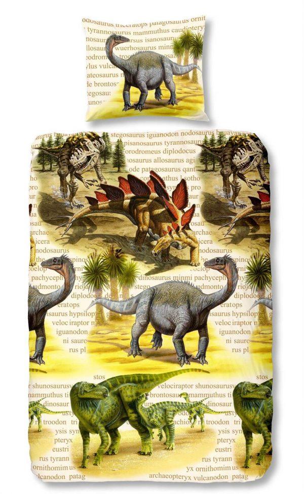 Snoozing Dino's flanel dekbedovertrek