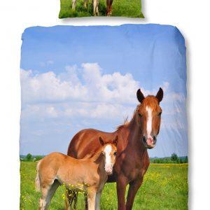 Snoozing Horses flanel dekbedovertrek