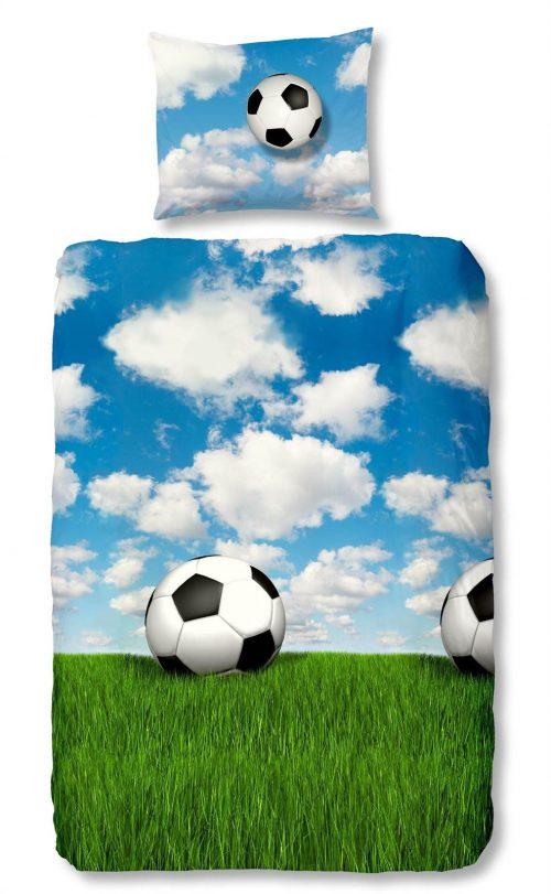 Snoozing Voetbal flanel dekbedovertrek