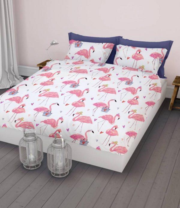 Dekbedovertrek Flamingo 260 x 200/220